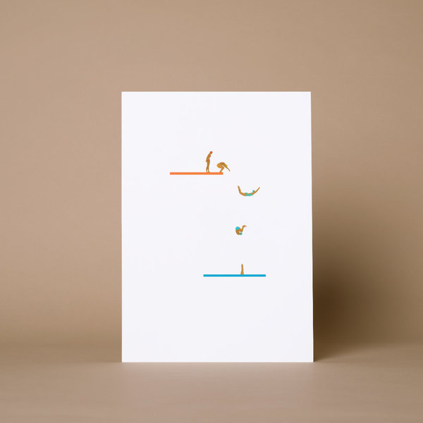 Happy Swimmers Print
